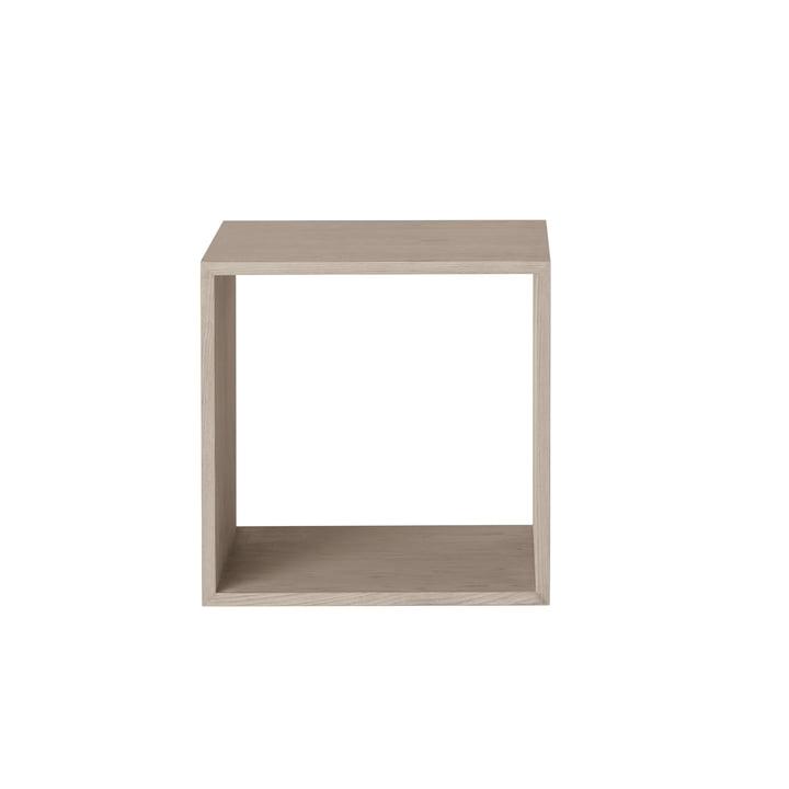 Muuto - Stacked shelf module 2. 0 without rear panel, medium / oak