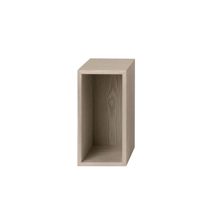 Muuto - Stacked Shelf module 2. 0 with rear panel, small / oak