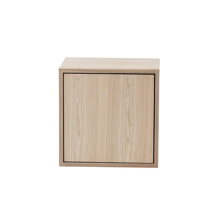 Muuto - Stacked shelf module 2. 0 with door, medium / oak