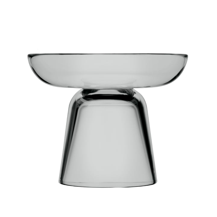 The Iittala - Nappula glass candle holder 107 mm, grey