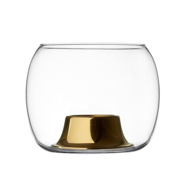 The Iittala - Kaasa tea light holder 141 x 115 mm, clear / rose gold