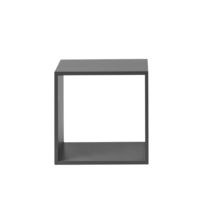 The Muuto - Stacked shelf module 2. 0 without rear panel in medium / grey