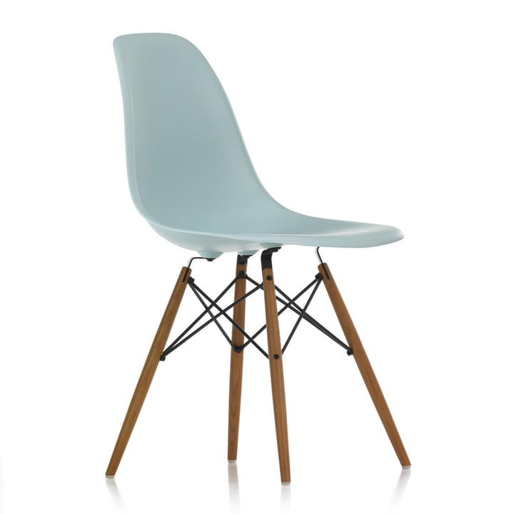 Vitra - Eames Plastic Side Chair DSW, honey-coloured ash / ice grey