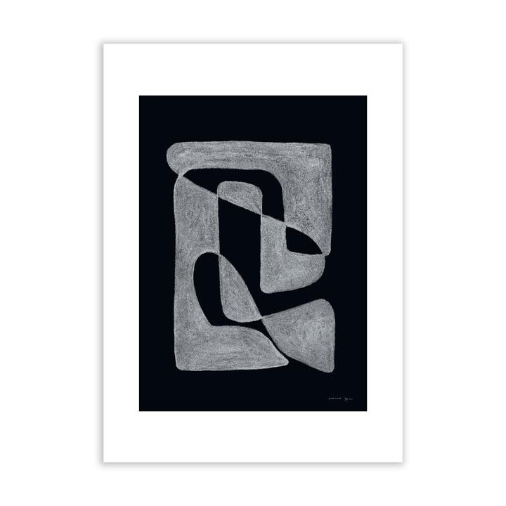Lineare Poster schwarz black by Atelier CPH