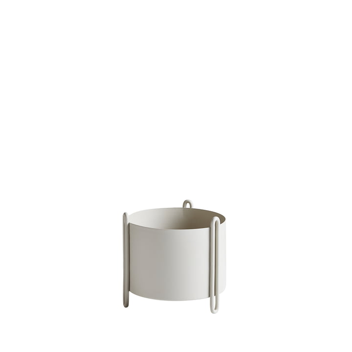 The Woud - plant Pidestall container S in grey