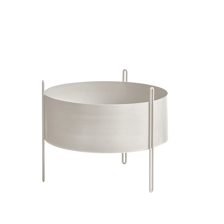 The Woud - plant Pidestall container M in grey