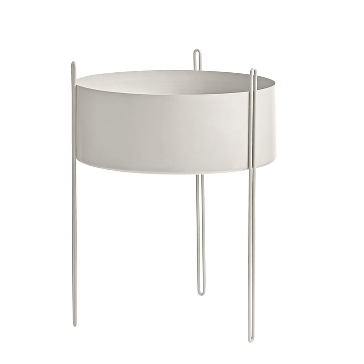 The Woud - plant Pidestall container L in grey