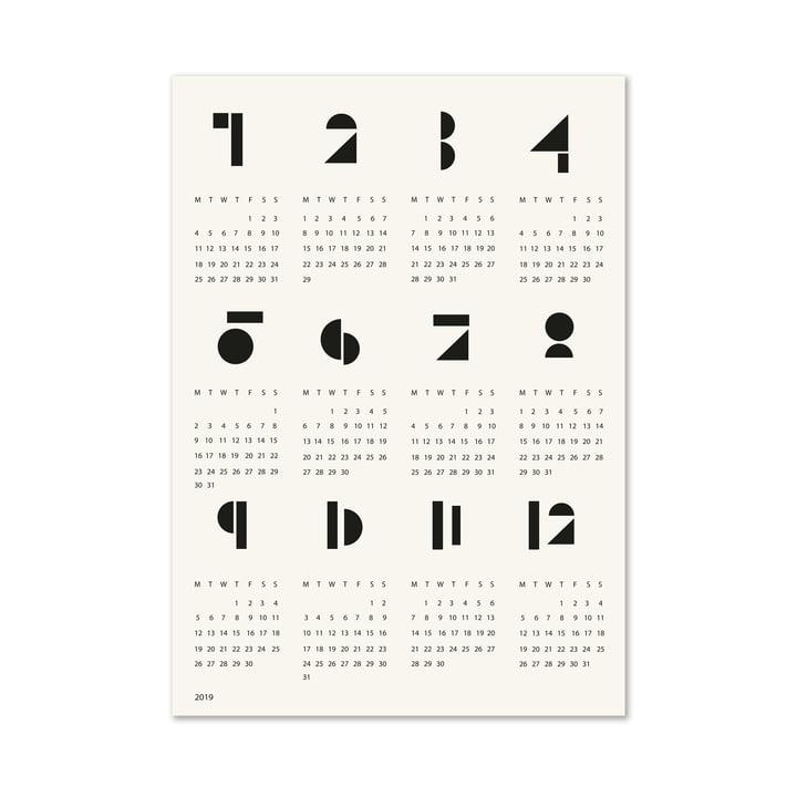 Graphic Toyblocks Wall Calendar in Black