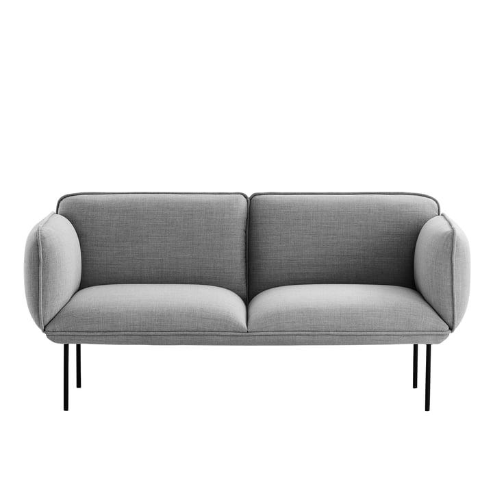 Woud - Nakki sofa 2-seater, Remix light gray (123)