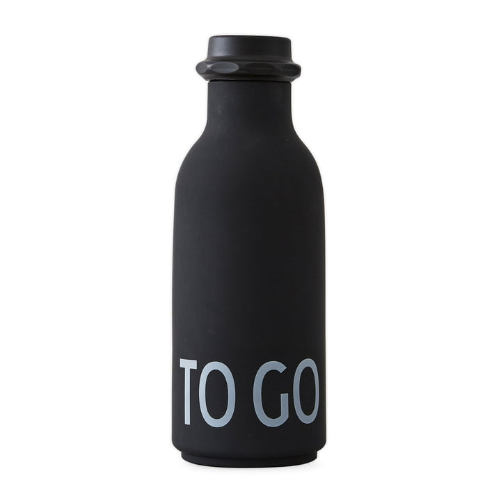 Design Letters - To Go Bottle in Black