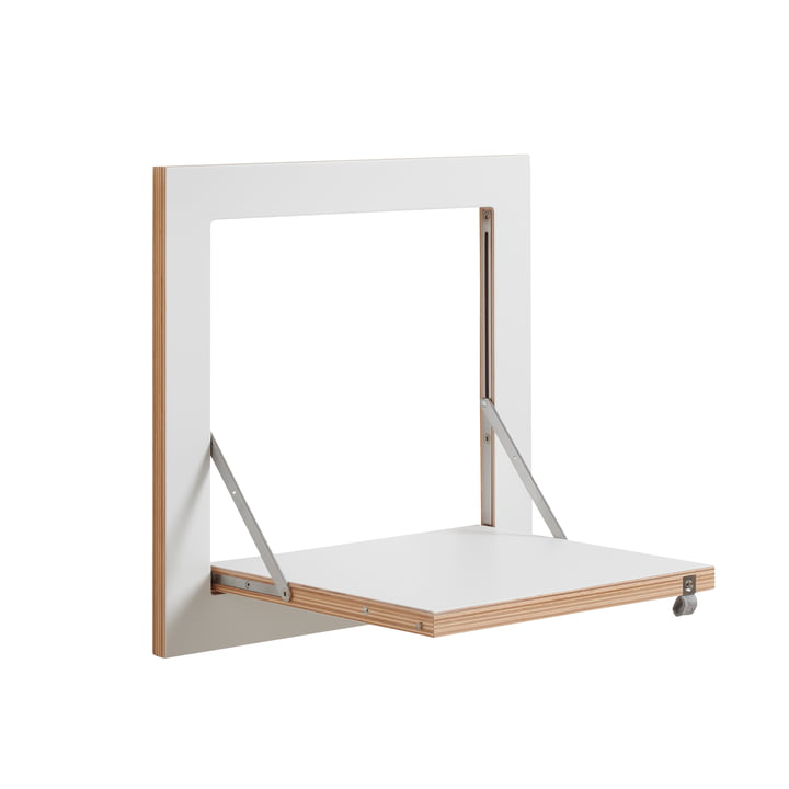 Ambivalenz - Fläpps Leaning Shelf, 40 x 40 cm, 1 shelf, white