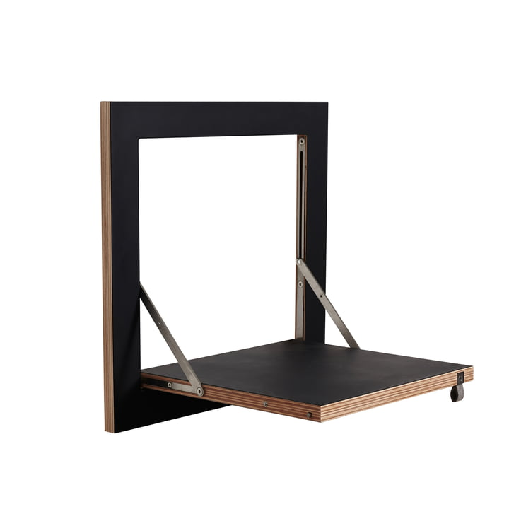 Ambivalenz - Fläpps Leaning Shelf, 40 x 40 cm, 1 shelf, black