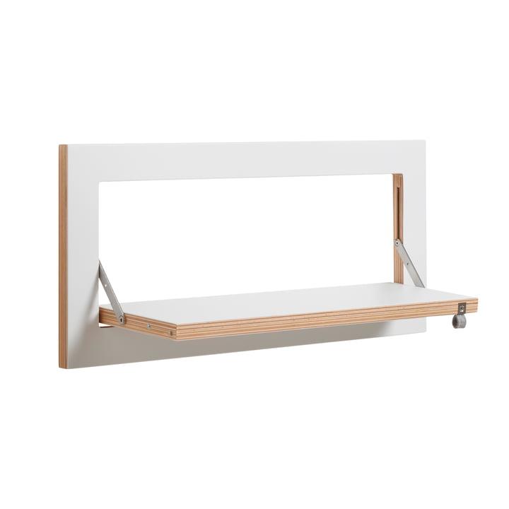 Ambivalenz - Fläpps Leaning Shelf, 60 x 27 cm, 1 shelf, white
