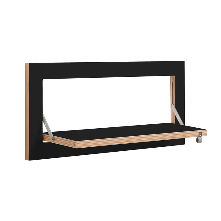 Ambivalenz - Fläpps Leaning Shelf, 60 x 27 cm, 1 shelf, black