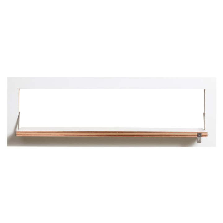Ambivalenz - Fläpps Leaning Shelf, 80 x 27 cm, 1 shelf, white