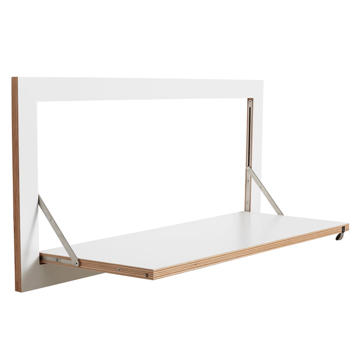 Ambivalenz - Fläpps Leaning Shelf, 80 x 40 cm, 1 shelf, white