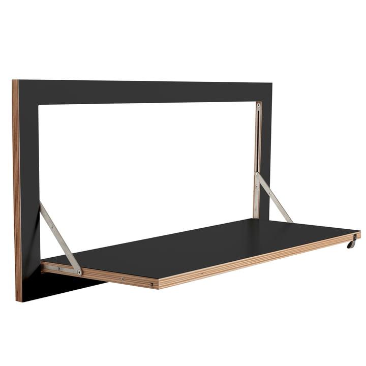 Ambivalenz - Fläpps Leaning Shelf, 80 x 40 cm, 1 shelf, black