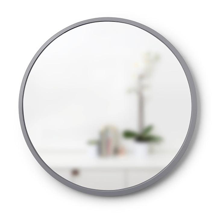 Umbra - Stroke mirror Ø 9 1. 4 cm, grey