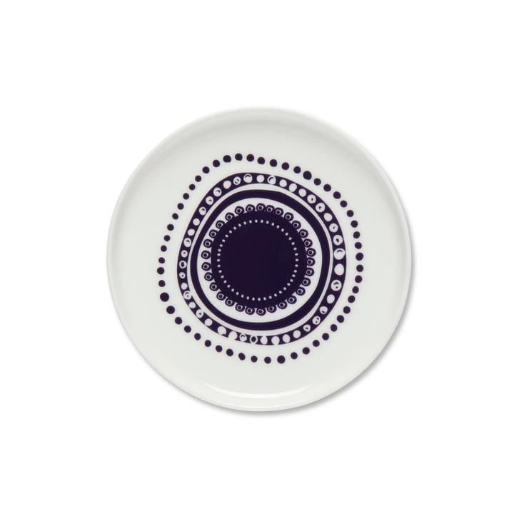 Oiva Svaale plate Ø 13.5 cm from white / plum by Marimekko