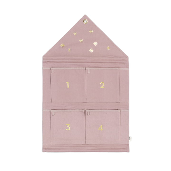 ferm Living - House Advent Calendar, rose