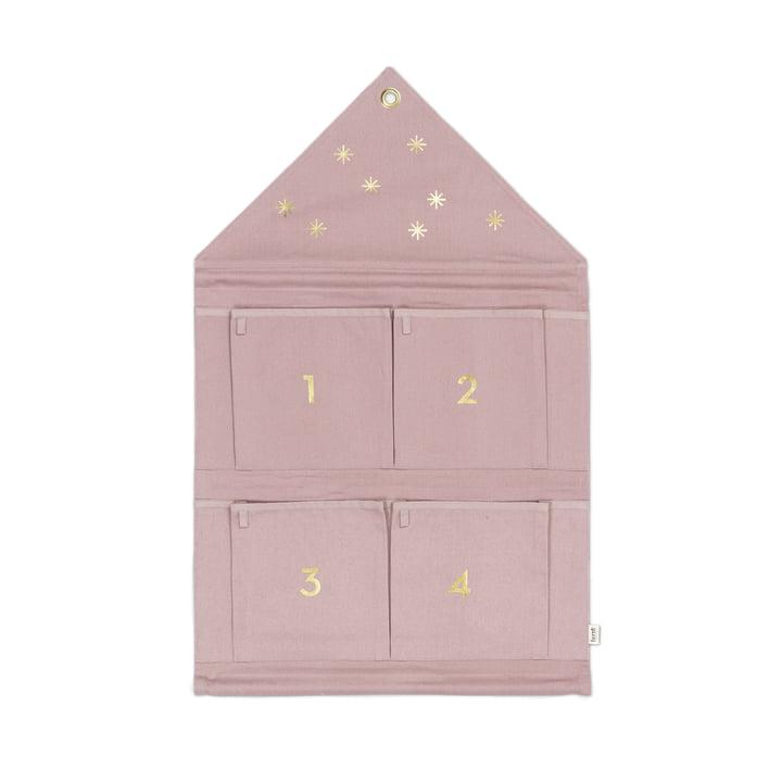 ferm Living - House Advent Calendar, rose