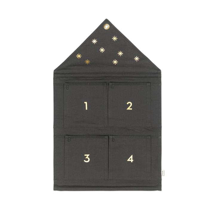 ferm Living - House Advent Calendar, dark green