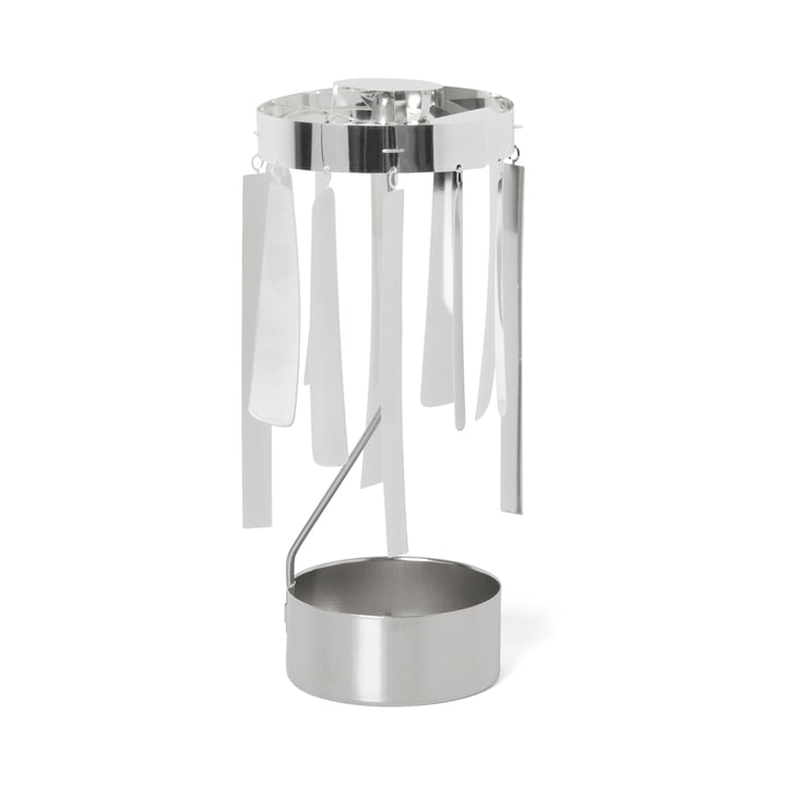 ferm Living - Tangle Spinning Tealight Holder, silver