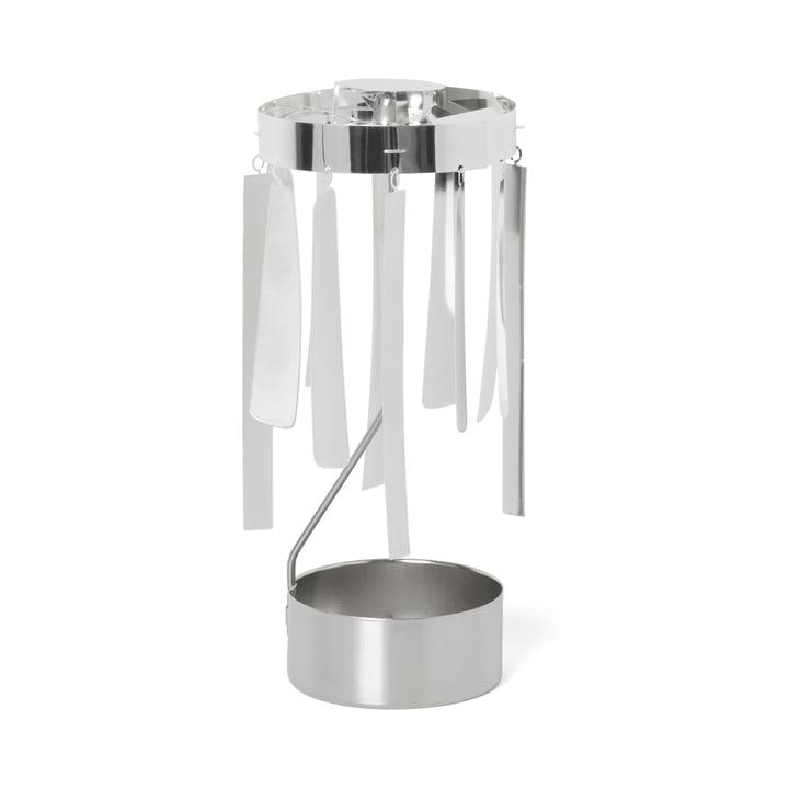 ferm Living - Tangle Spinning Tealight Holder, silver