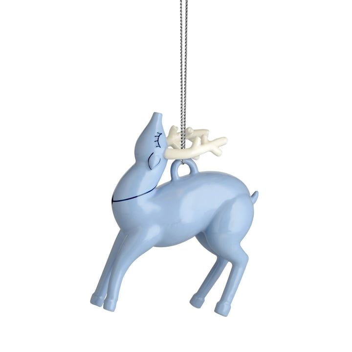 The Alessi - Blue Christmas Ornaments, reindeer