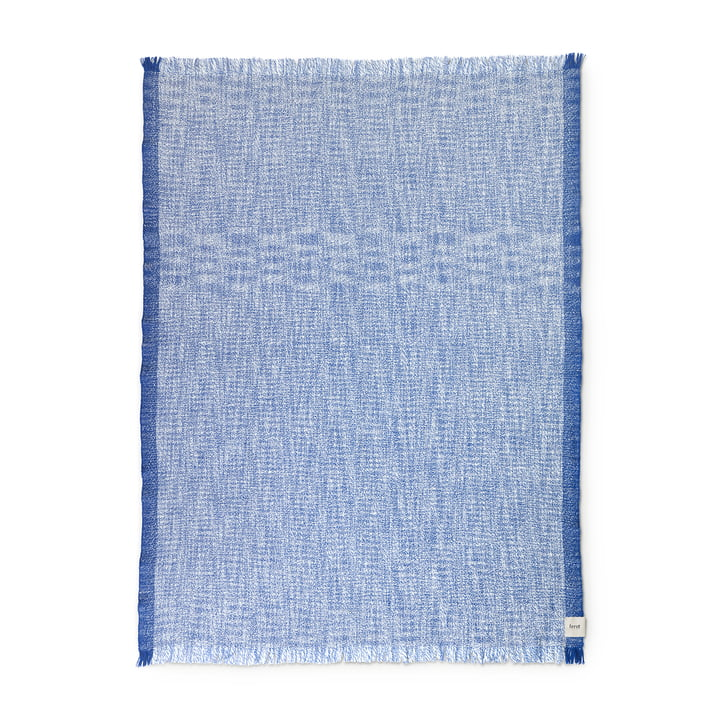 ferm Living - Enfold Blanket, 135 x 170 cm, blue / white