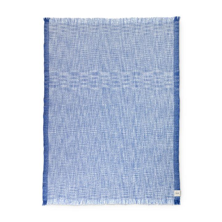ferm Living - Enfold Blanket, 135 x 170 cm, blue / white