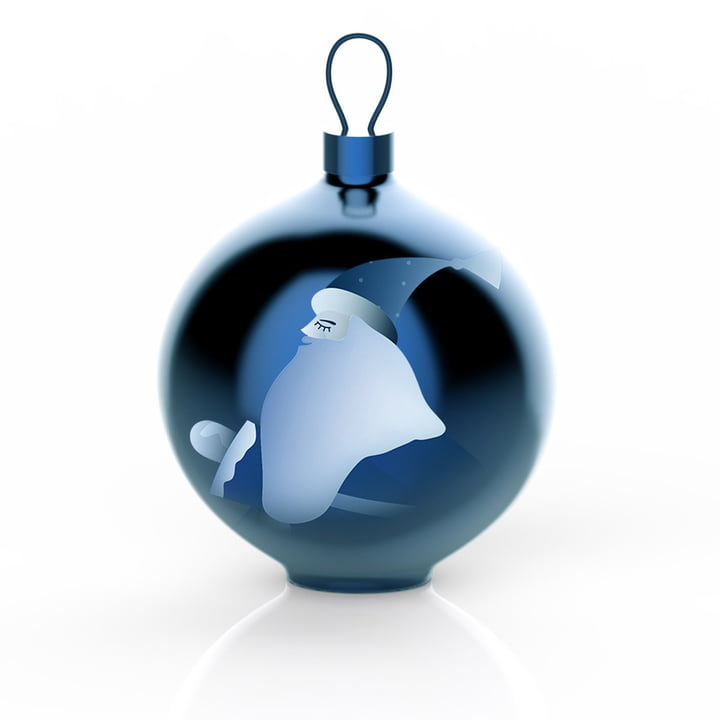 Alessi - Blue Christmas Baubles, Santa Claus