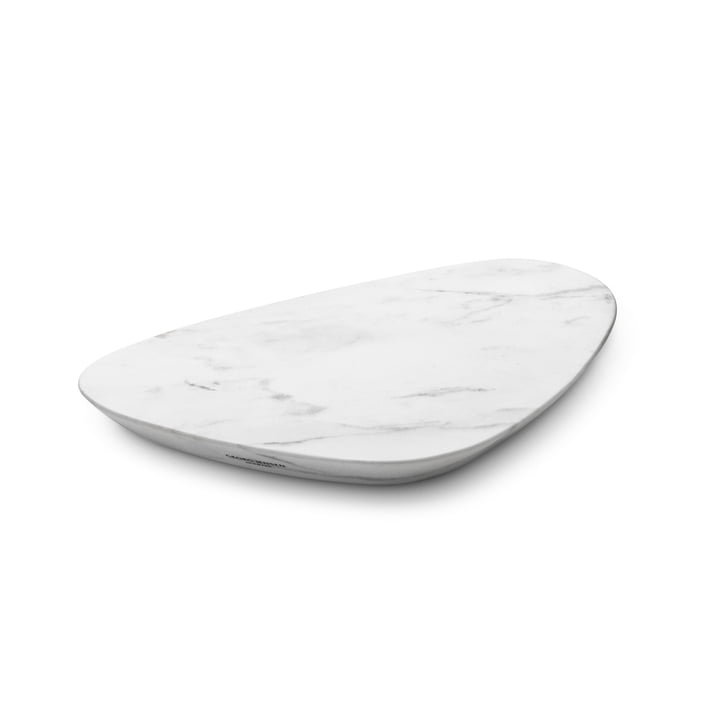 Sky Serving tray small, white marble from Georg Jensen