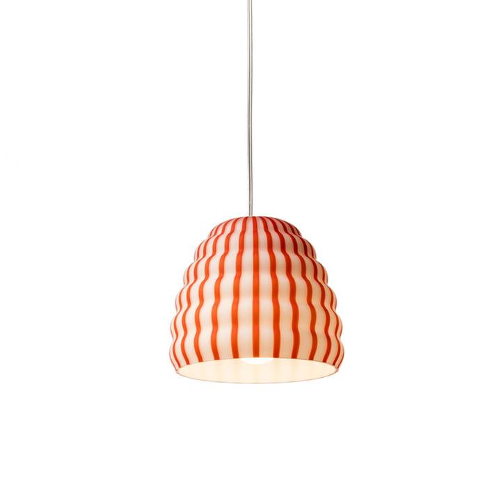Established & Sons - Filigrana Pendant Lamp S1 Beehive, Ø 160 mm, red / white