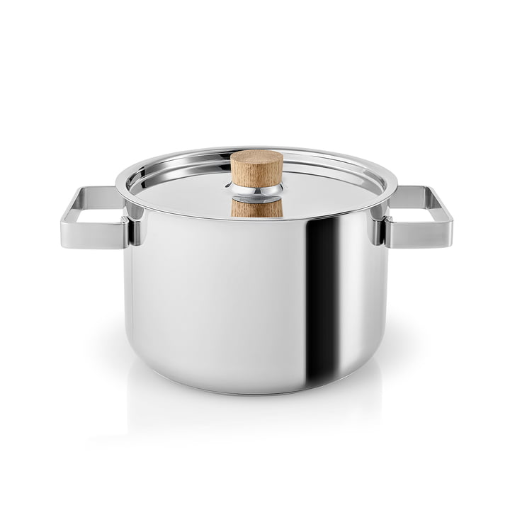 Nordic Kitchen cooking pot 3 l by Eva Solo in stainless steel / oak