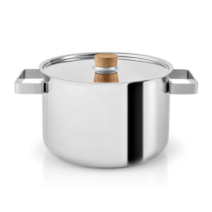 Nordic Kitchen pot 4 l by Eva Solo in Stainless Steel / Oak