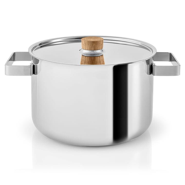 Nordic Kitchen pot 6 l by Eva Solo in Stainless Steel / Oak