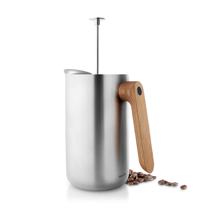 Nordic Kitchen pot 1 l by Eva Solo in Stainless Steel / Oak