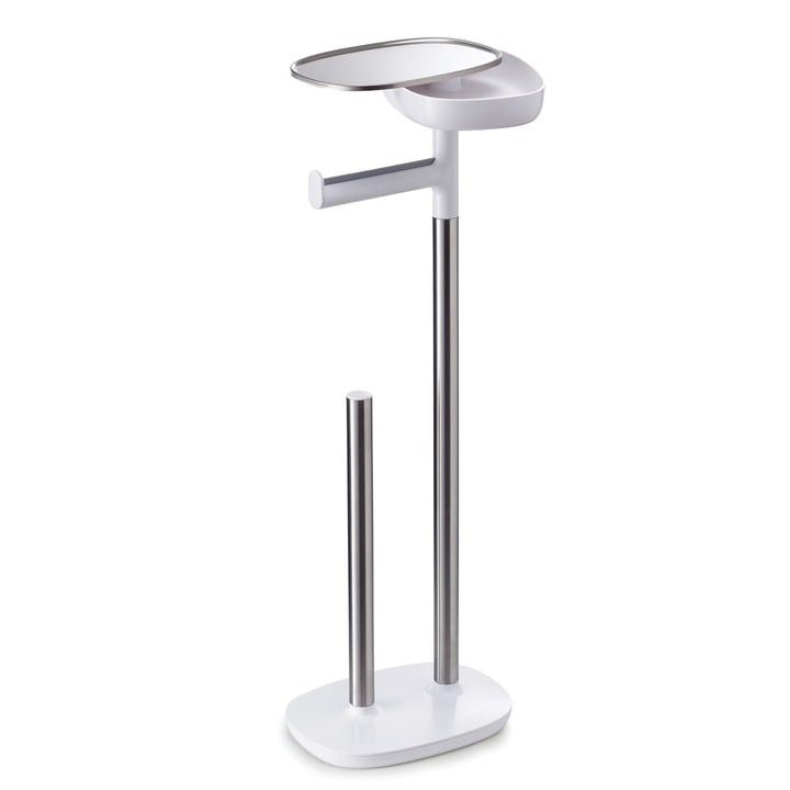 Joseph Joseph - EasyStore Toilet Paper Holder, stainless steel / white