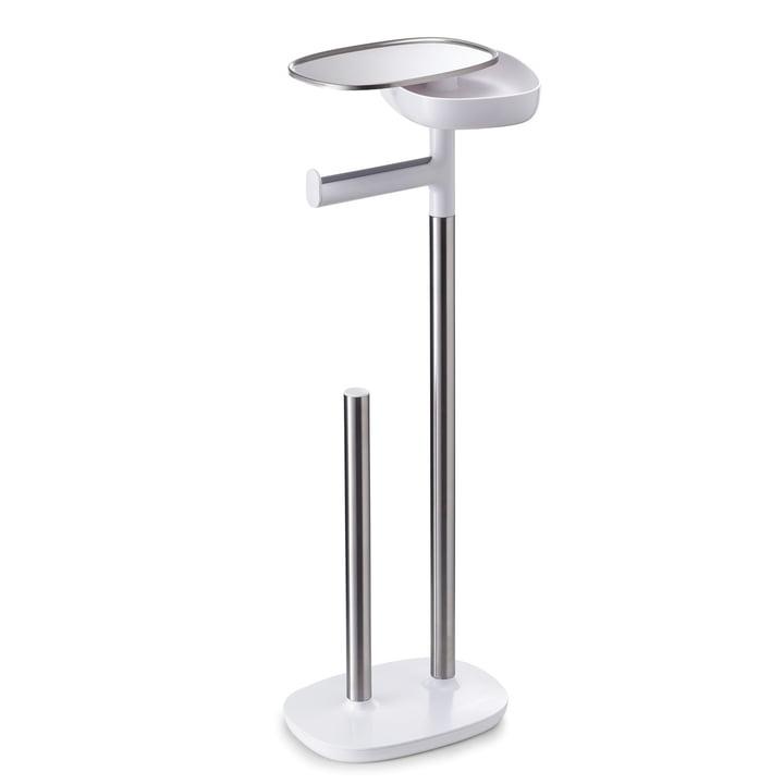 Joseph Joseph - EasyStore Toilet roll holder, stainless steel / white