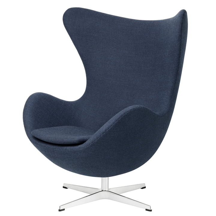 Egg Chair from Fritz Hansen in blue (FH 6001)