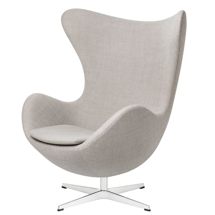 Egg Chair from Fritz Hansen in light grey (Capture 4101)