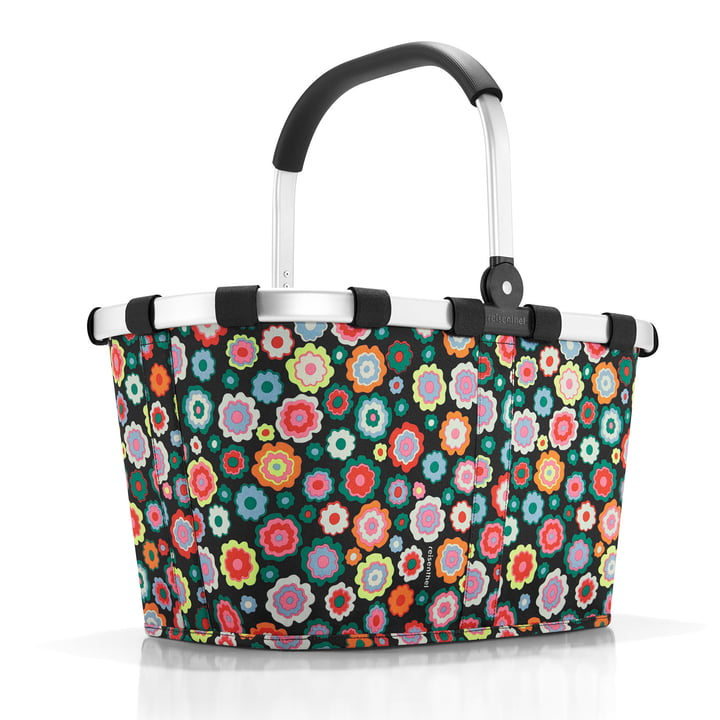 carrybag with colourful flower print