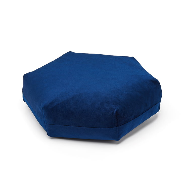 Puik - Plus Hexagon cushion, 41 x 36 cm, dark blue