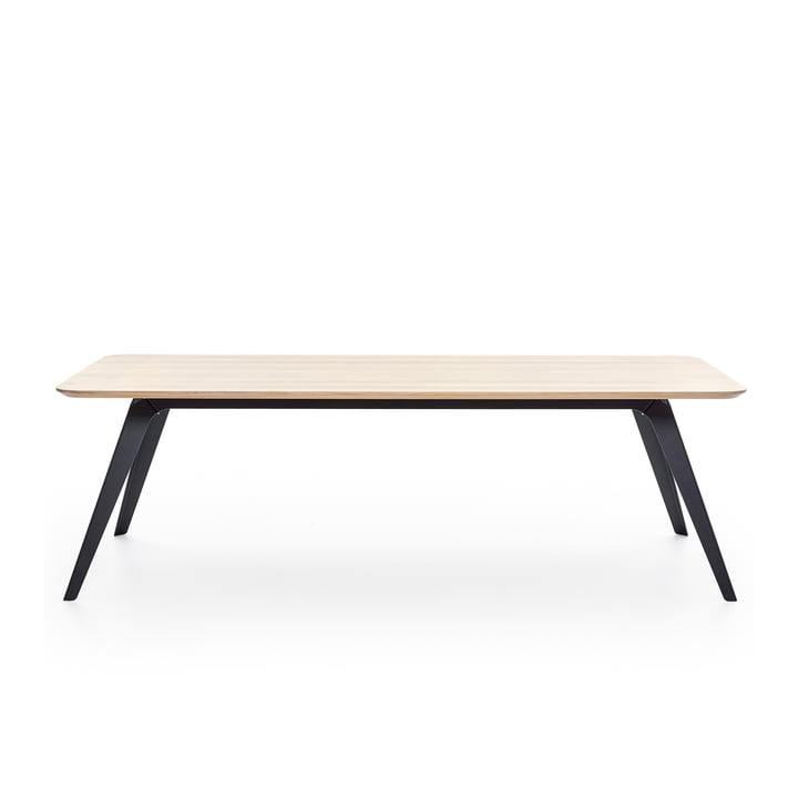 Fold dining table 200 × 95 cm, oak / black by Puik