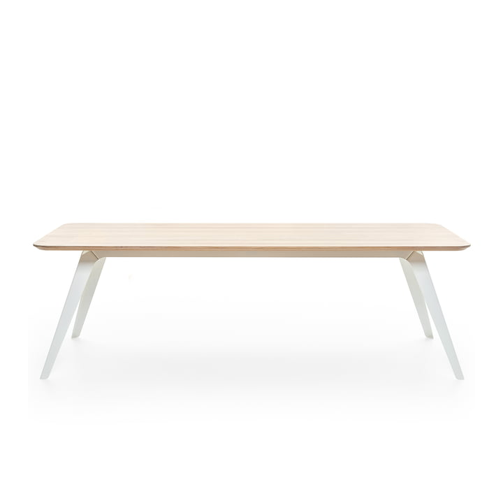 Fold dining table 200 × 95 cm, oak / white by Puik