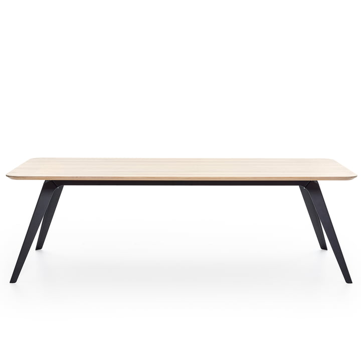 Fold dining table 240 × 100 cm, oak / black by Puik