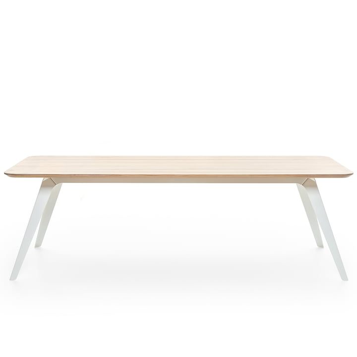 Fold dining table 240 × 100 cm, oak / white by Puik