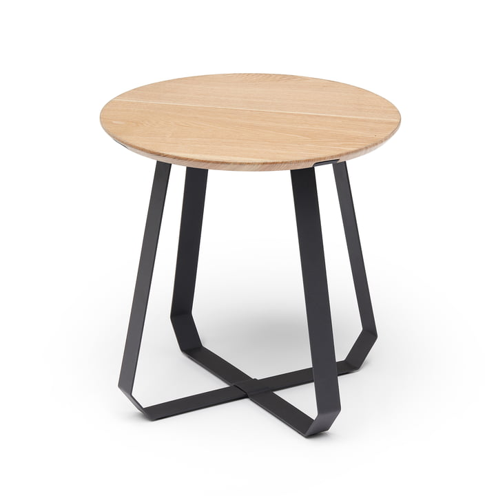 Shunan side table Ø 46 x H 46 cm, ash / black by Puik