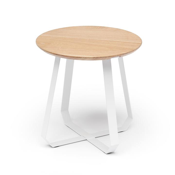 Shunan side table Ø 46 x H 46 cm, ash / white by Puik